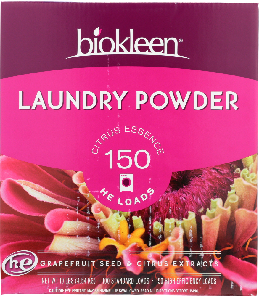 BIO KLEEN: Laundry Powder Grapefruit Seed And Citrus Extract, 10 lb