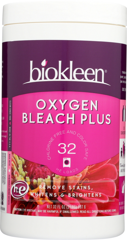 BIO KLEEN: Oxygen Bleach Plus Powder Chlorine Free And Color Safe, 32 oz