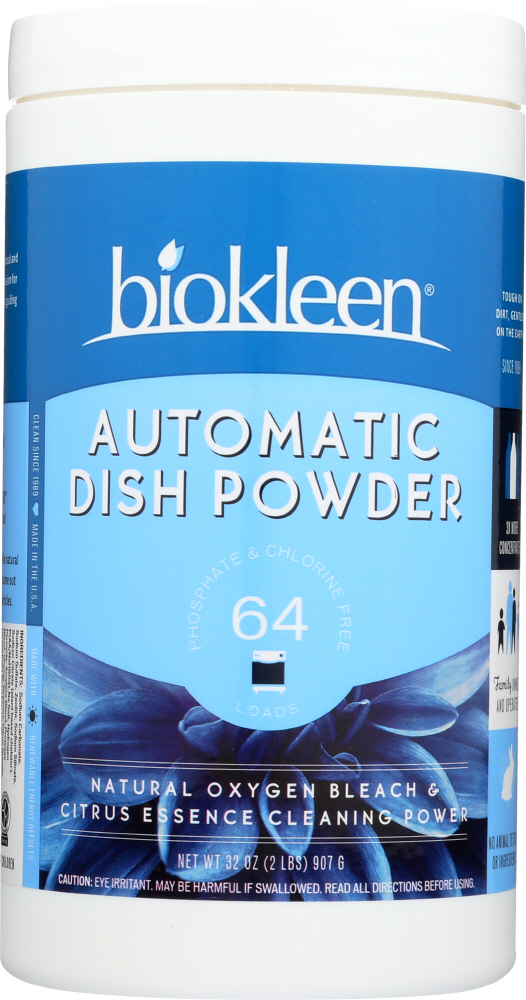 BIO KLEEN: Automatic Dish Powder With Natural Oxygen Bleach, 32 oz