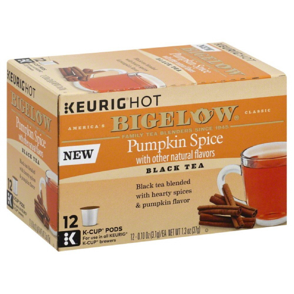 BIGELOW: Pumpkin Spice Tea K-Cups Pods, 12 ea