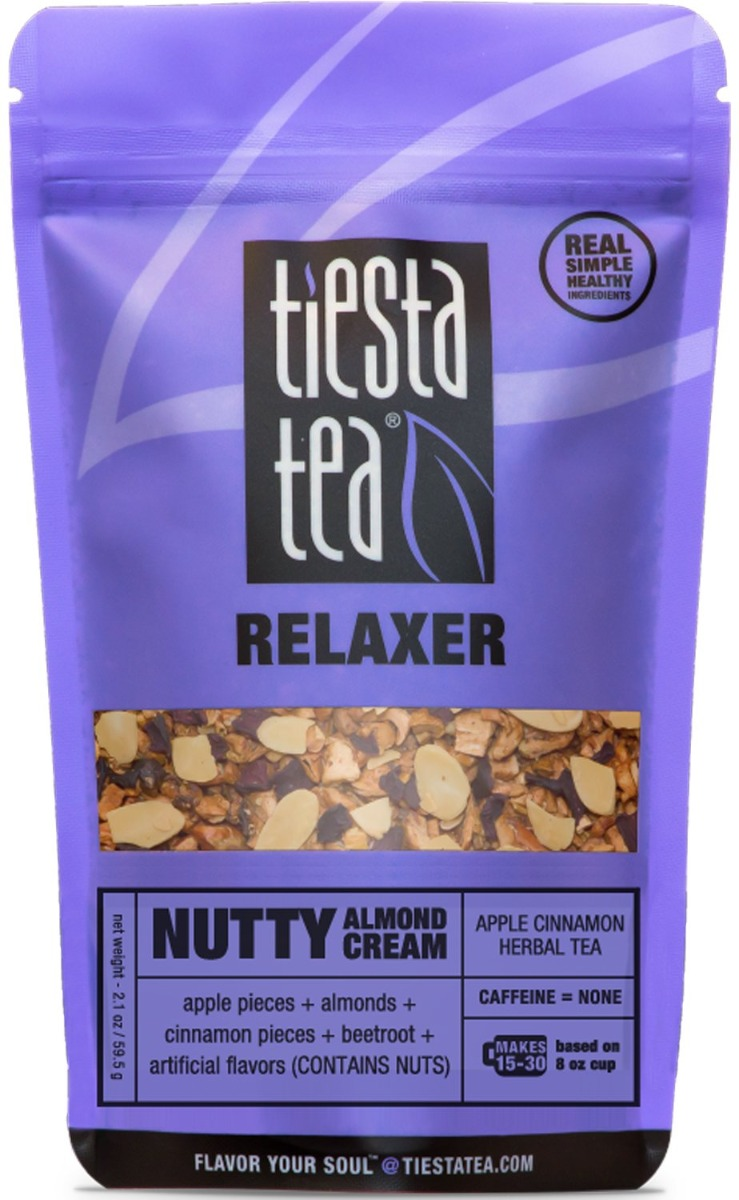 TIESTA TEA: Tea Herbal Nutty Almond Cream Pouch, 2.1 oz