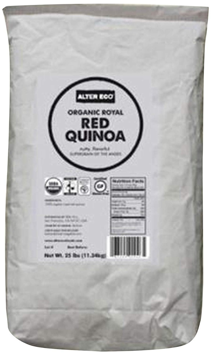 ALTER ECO: Organic Royal Red Quinoa, 25 lb