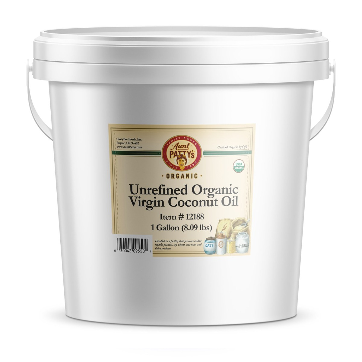 AUNT PATTY: Unrefined Virgin Coconut Oil, 1 ga