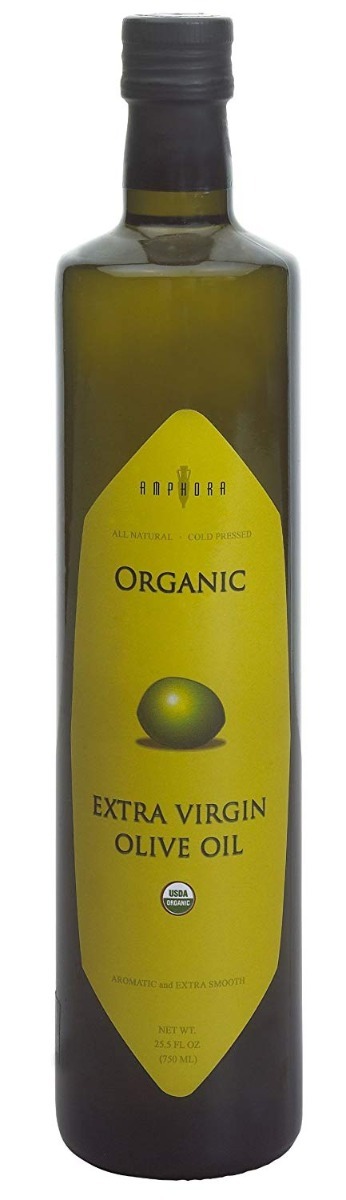 AMPHORA: Organic Extra Virgin Olive Oil, 750 ml