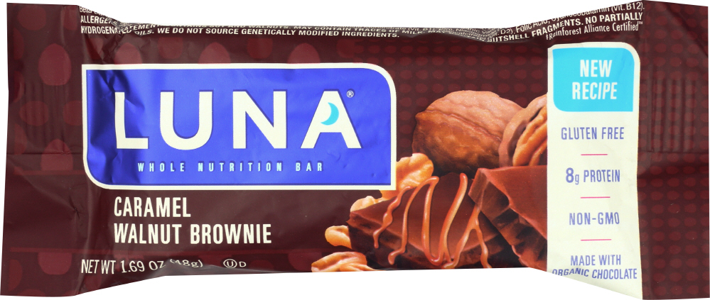 LUNA BAR: Caramel Nut Brownie, 1.69 Oz