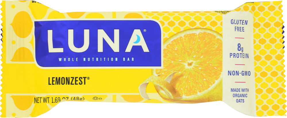 LUNA: Lemon Zest Nutrition Bar For Women, 1.7 oz
