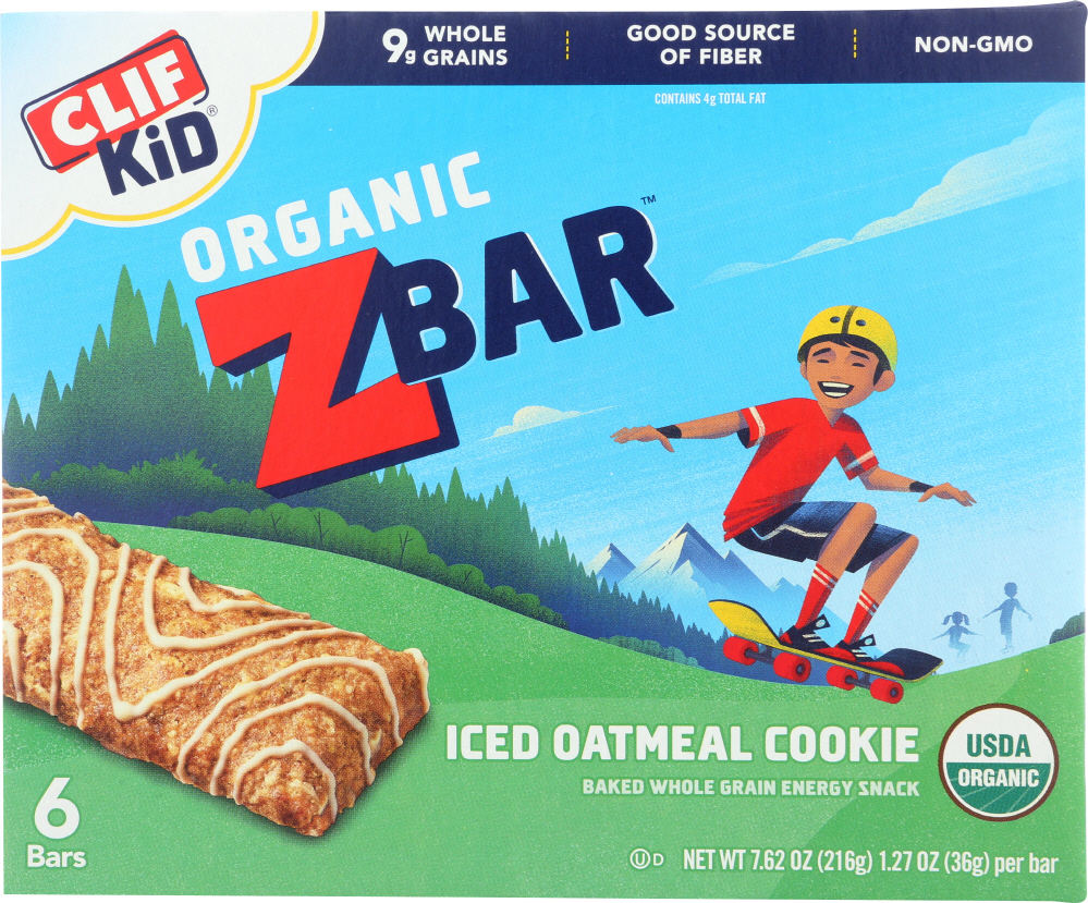 CLIF KID: Zbar Organic Iced Oatmeal Cookie, 7.62 oz