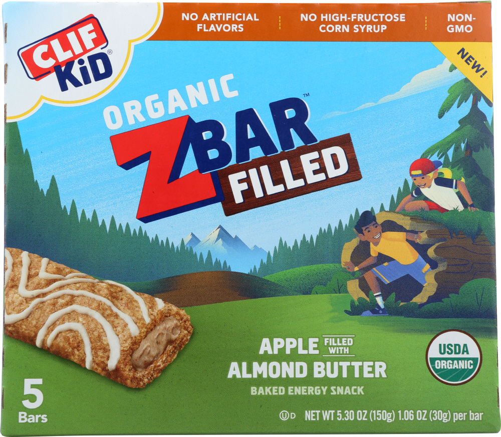 CLIF KID: Bar Filled Apple Almond Butter, 5.3 oz