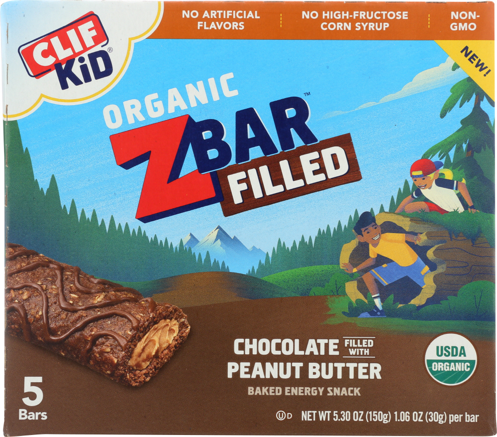 CLIF KID: Bar Filled Chocolate Peanut Butter, 5.3 oz