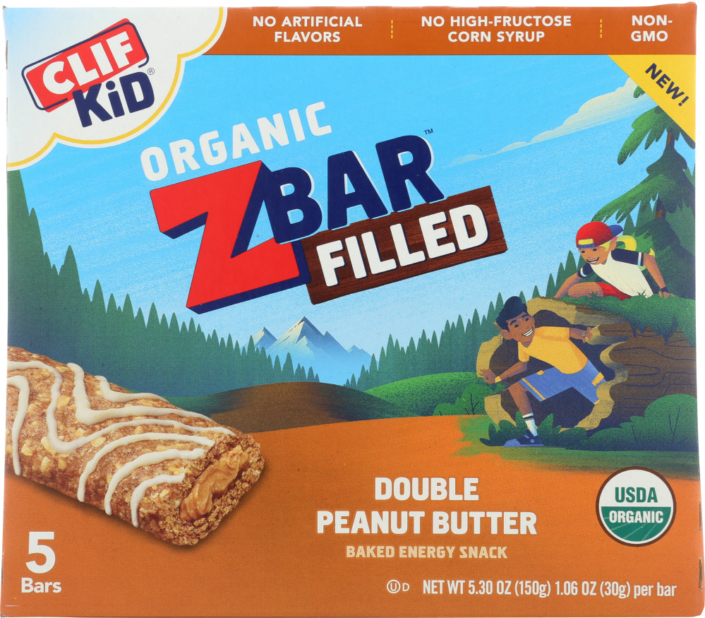 CLIF KID: Bar Double Peanut Butter, 5.3 oz