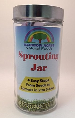 RAINBOW ACRES: Sprouting Jar, 64 oz