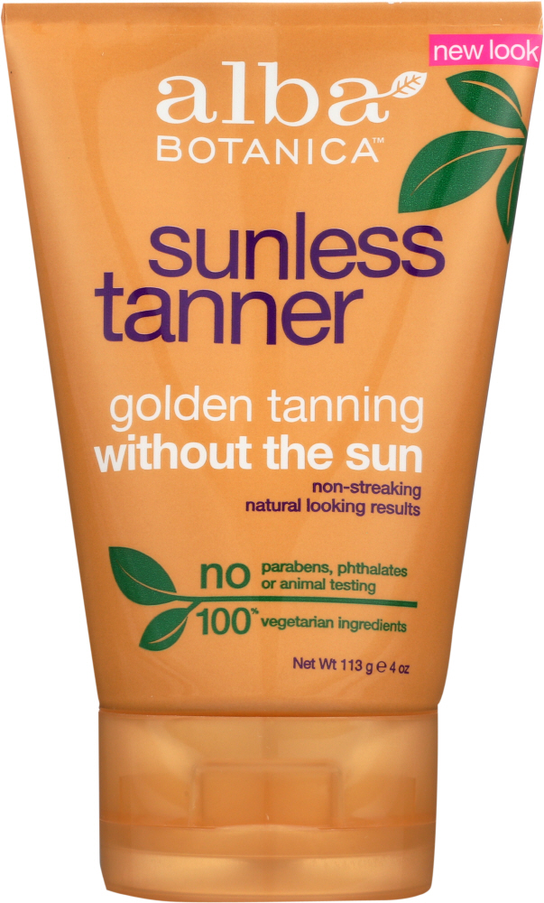 ALBA BOTANICA: Natural Very Emollient Sunless Tanning Lotion, 4 oz
