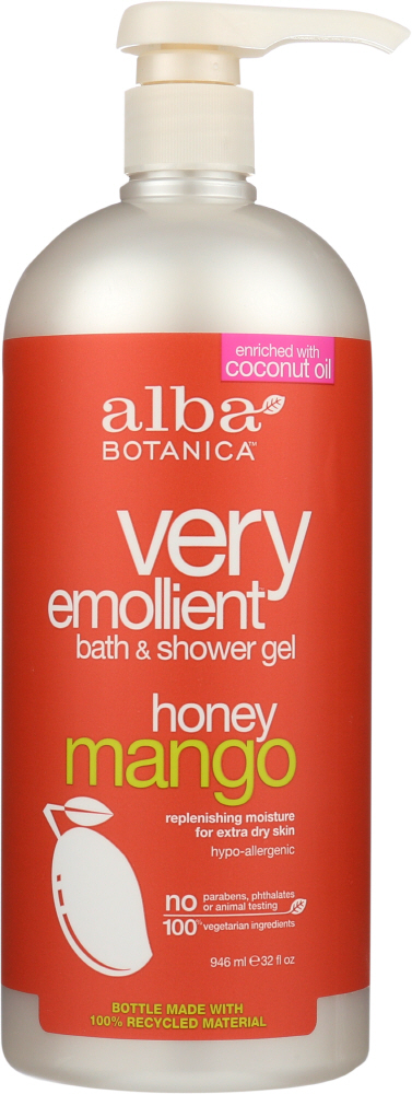 ALBA BOTANICA: Natural Very Emollient Bath & Shower Gel Honey Mango, 32 oz