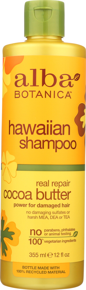 ALBA BOTANICA: Natural Hawaiian Shampoo Real Repair Cocoa Butter, 12 oz