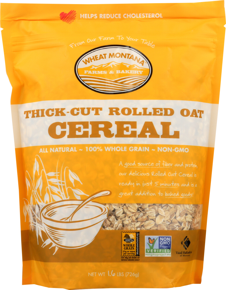 WHEAT MONTANA: CEREAL ROLL OAT THICK CUT (1.600 LB)