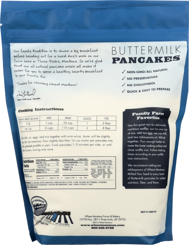 WHEAT MONTANA: Pancake Mix Buttermilk, 2 Lb