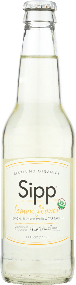 SIPP: Beverage Sparkling Lemon Flower Organic, 12 fl oz