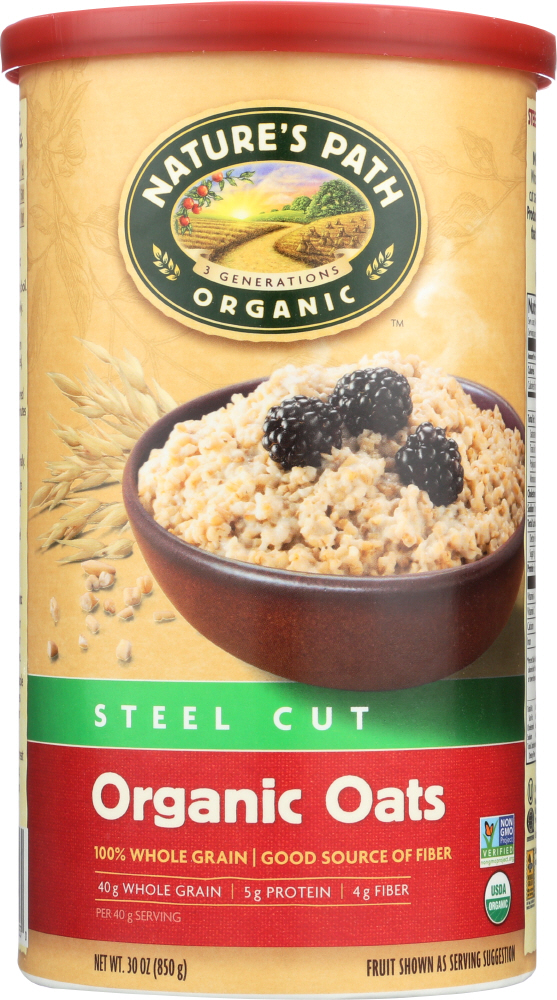 COUNTRY CHOICE: Organic Oven Toasted Oats Steel Cut, 30 oz