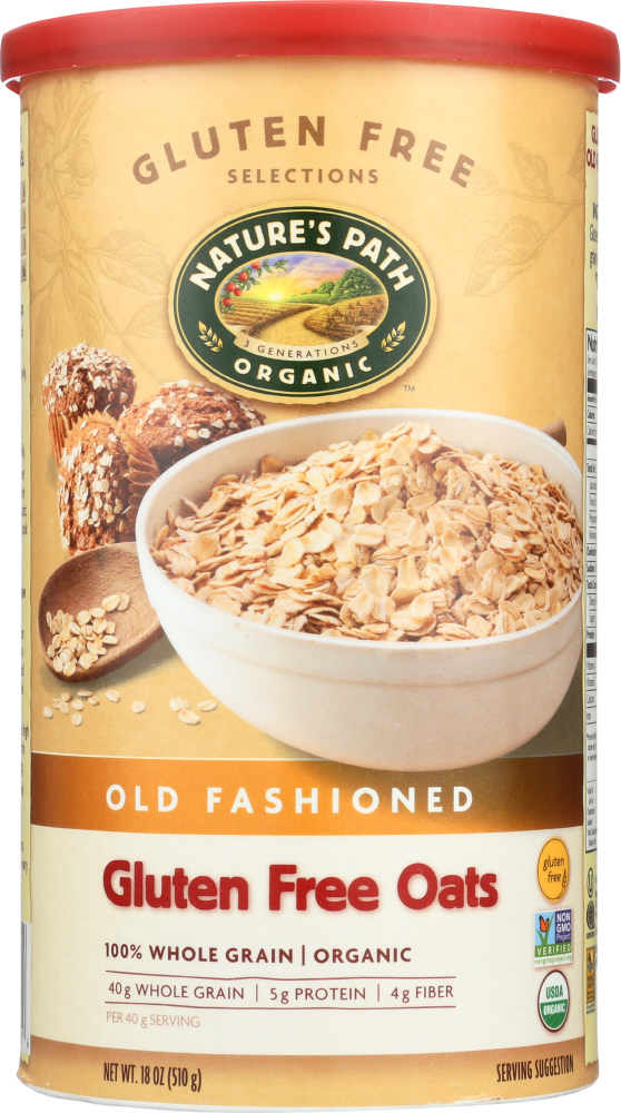 COUNTRY CHOICE: Organic Gluten Free Oats Old Fashioned, 18 oz