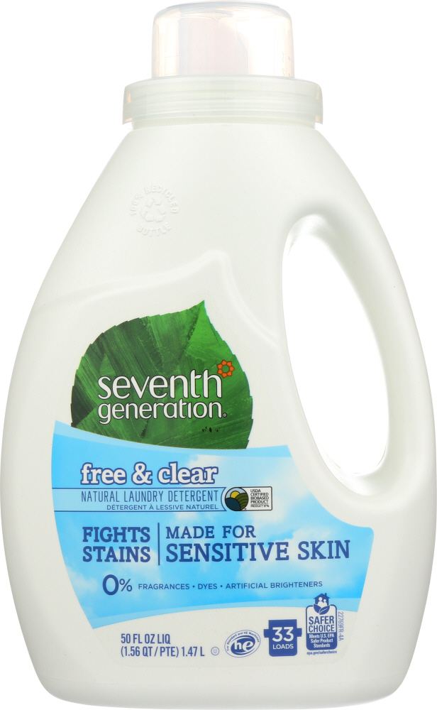 SEVENTH GENERATION: Natural Laundry Detergent Free & Clear, 50 oz