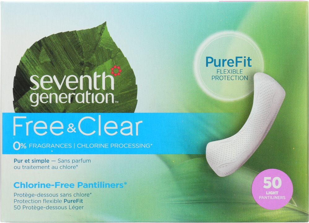 SEVENTH GENERATION: Free & Clear Light Pantiliners, 50 pc