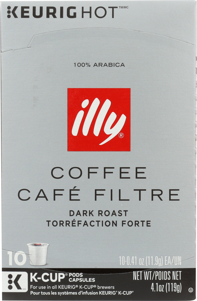 ILLY ISSIMO: Coffee Kcup Dark Roast, 10 pc