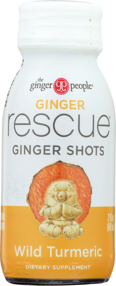 GINGER PEOPLE: Ginger Rescue Shots Wild Turmeric, 2 oz