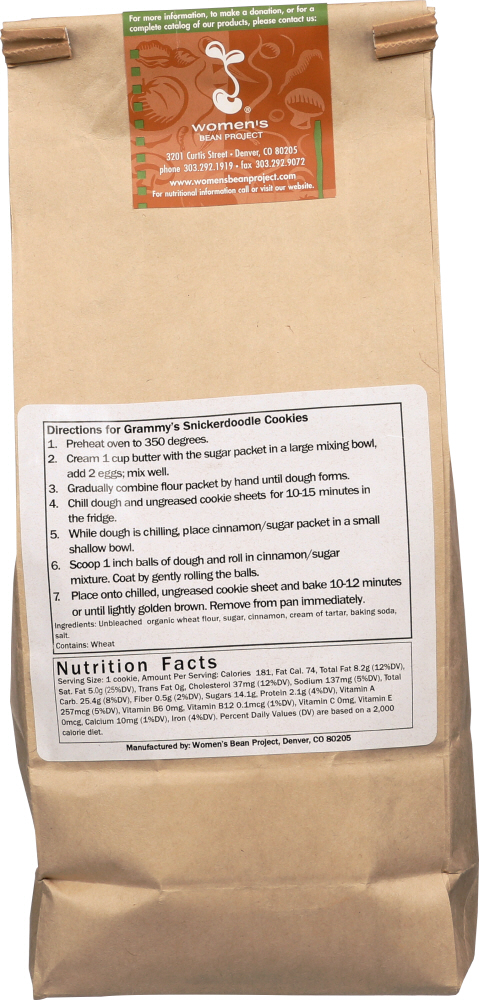 WOMENS BEAN PROJECT: Mix Grammys Snickerdoodle, 25 oz