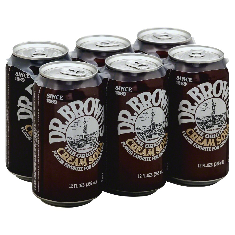 DR BROWNS: Original Cream Soda 6-12 fl oz, 72 fl oz