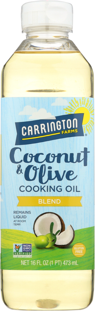 CARRINGTON FARMS: Coconut and Olive Cooking Oil, 16 oz