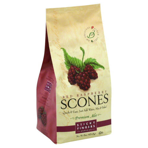STICKY FINGERS: Red Raspberry Scones Mix, 15 oz