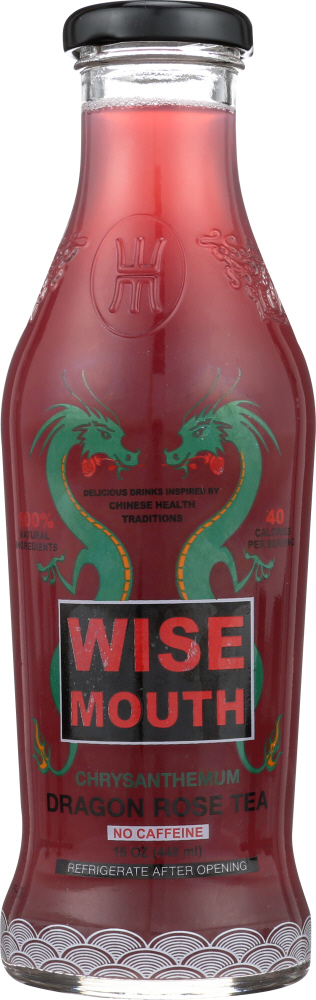 WISE MOUTH: Chrysanthemum Dragon Rose Tea, 16 oz