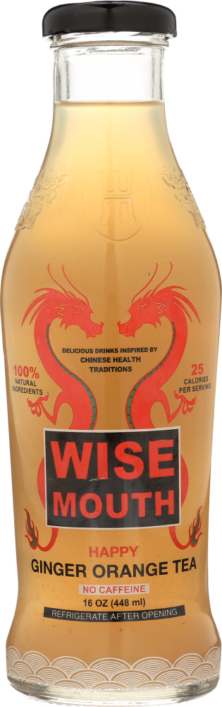 WISE MOUTH: Happy Ginger Orange Tea, 16 oz