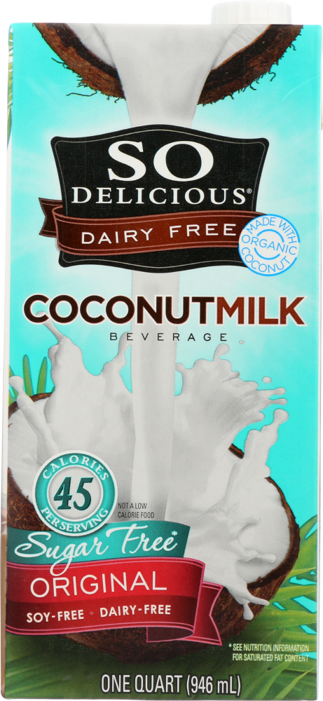 SO DELICIOUS: Coconut Milk Beverage Original Sugar Free, 32 Oz