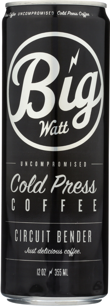 BIG WATT: Cold Press Coffee, 12 oz