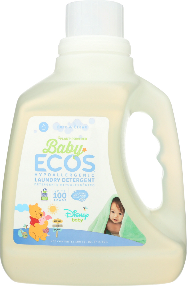 EARTH FRIENDLY: Free & Clear Disney Baby Laundry Detergent, 100 oz