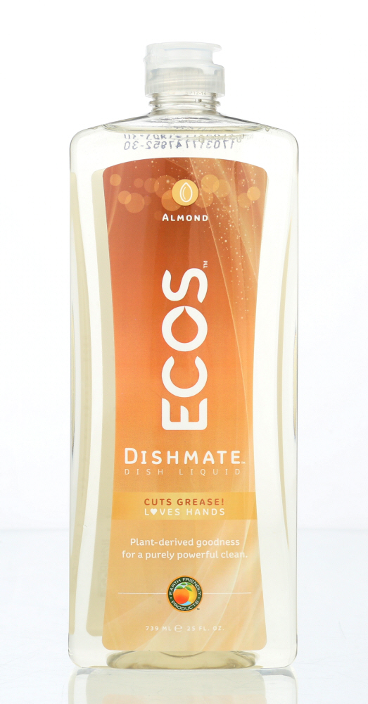 EARTH FRIENDLY: Ecos Dishmate Dish Liquid Almond, 25 oz