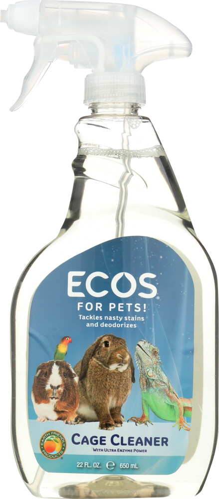 EARTH FRIENDLY: For Pets Cage Cleaner Spray, 22 oz