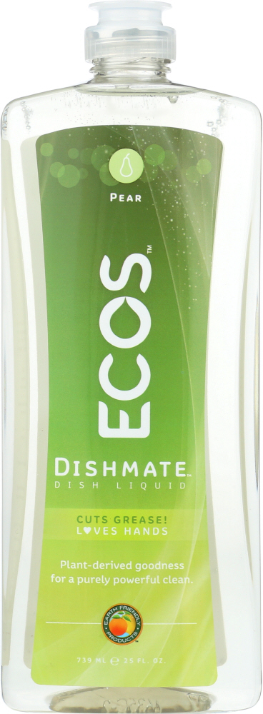EARTH FRIENDLY: Ecos Dishmate Dish Liquid Pear, 25 oz