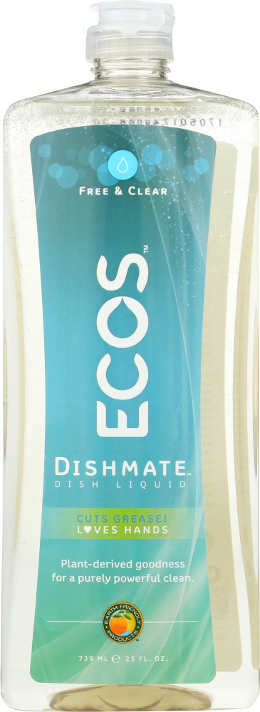 EARTH FRIENDLY: Ecos Dishmate Dish Liquid Free and Clear, 25 oz