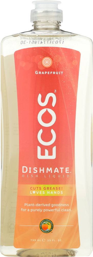 EARTH FRIENDLY: Dishmate Grapefruit Dishwashing Liquid, 25 oz