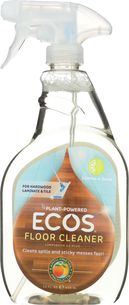 EARTH FRIENDLY: Floor Cleaner Lemon Sage, 22 oz
