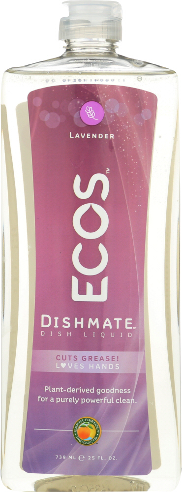 EARTH FRIENDLY: Ecos Dishmate Diss Liquid Lavender, 25 oz