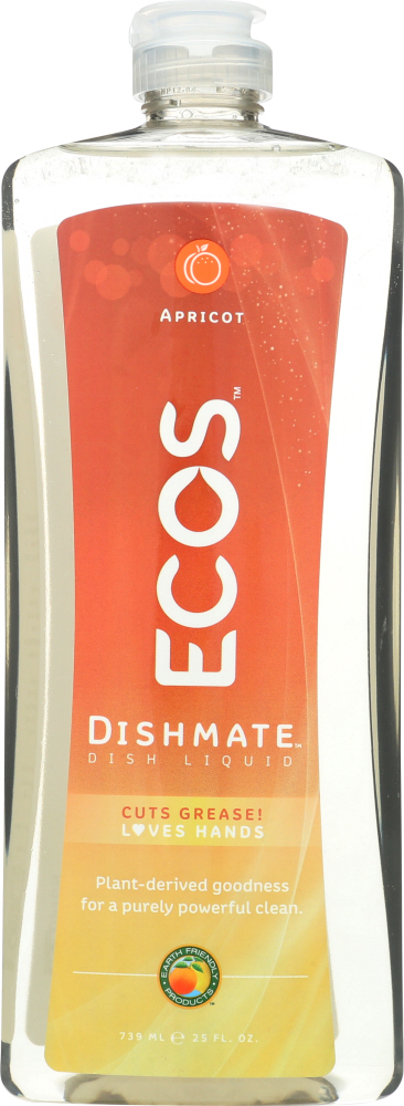 EARTH FRIENDLY: Dishmate Apricot Dishwashing Liquid, 25 oz