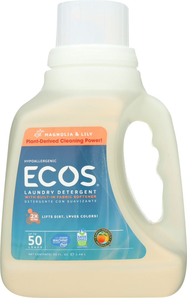 EARTH FRIENDLY: Ultra Ecos Laundry Detergent Magnolia and Lily, 50 oz