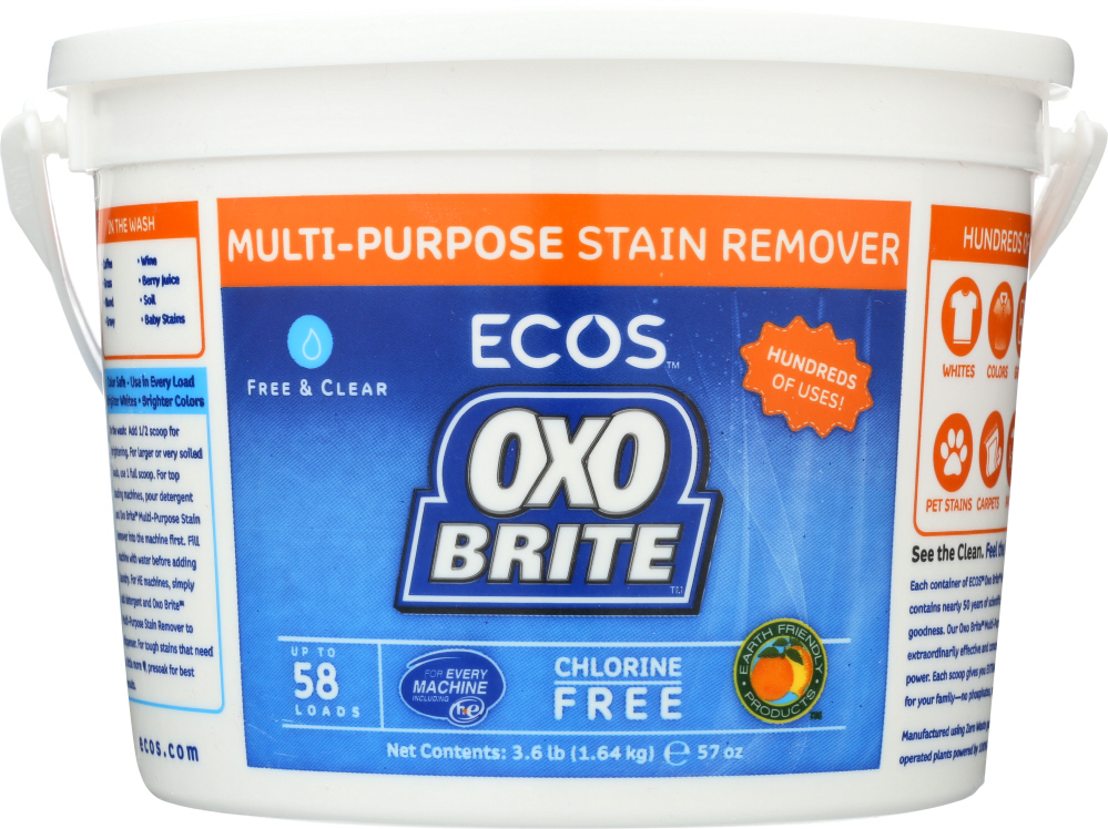 EARTH FRIENDLY: Oxo Brite Non-Chlorine Bleach, 3.6 lb