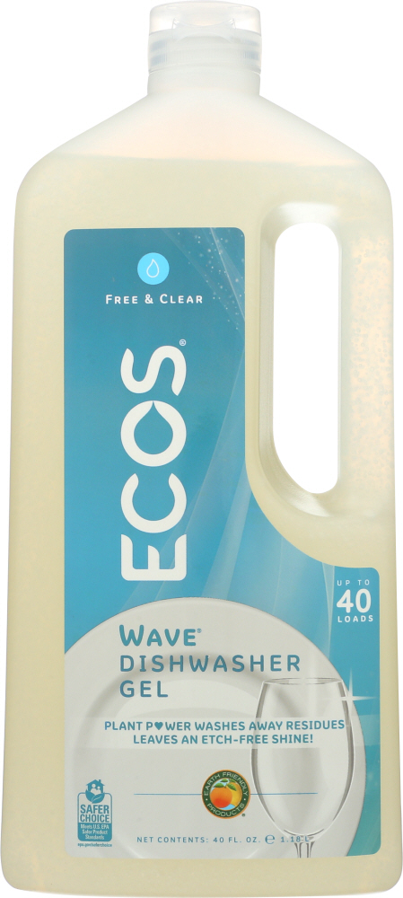EARTH FRIENDLY: Wave Dishwasher Gel Free and Clear, 40 oz