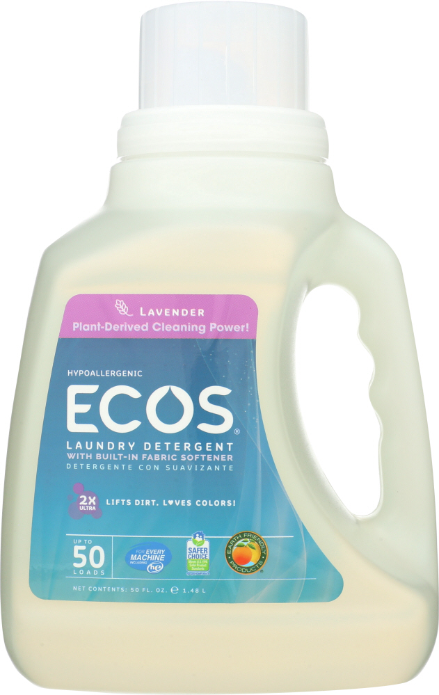 EARTH FRIENDLY: Liquid Laundry Detergent Lavender, 50 oz