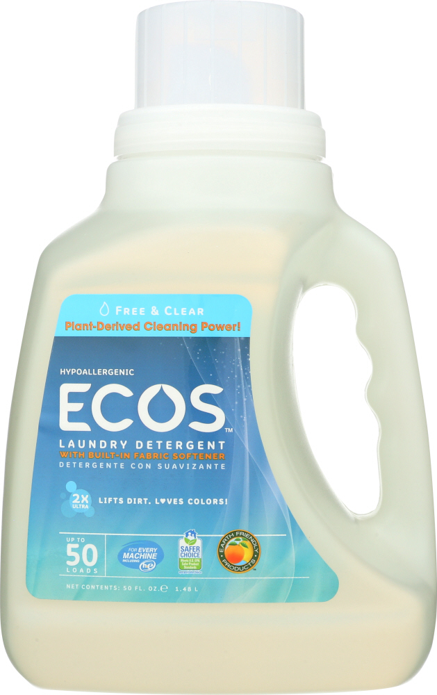 EARTH FRIENDLY: Free and Clear Laundry Detergent, 50 oz