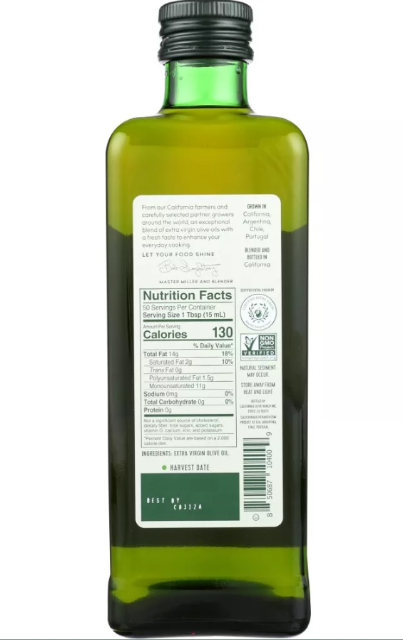 CALIFORNIA OLIVE RANCH: Everyday Extra Virgin Olive Oil, 25.4 oz